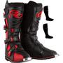 Bota Motocross Pro Tork Combat 3 Vermelha Trilha Tamanho 41