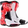 Bota Motoqueiro Alpinestars S-mx 6 Branca / Vermelha Moto