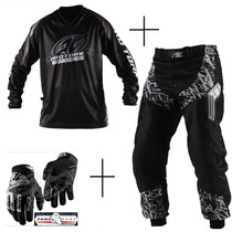 Conjunto Camisa + Calça Insane Pro Tork + Luva Trilha Cross