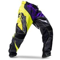 Calça Insane 4 Roxa Amarela Motocross Nova Pro Tork 2015