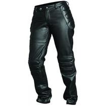 Calça De Couro Motociclista Masculina Com Proteção