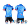 Camisa Ciclismo + Bretelle Modelo Castelli 2014 Azul 2