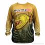 Camiseta De Pesca Monster 3x Fish Colection Dourado Tam M