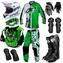 Kit Geometric Pro Tork Equipamento Trilha Motocross