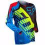 Camisa Motocross Fox 360 Savant Azul / Verde Off Road Trilha