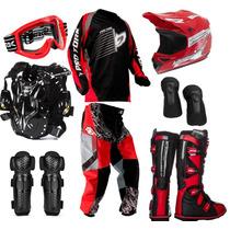 Kit Conjunto Piloto Motocross Trilha Pro Tork Insane