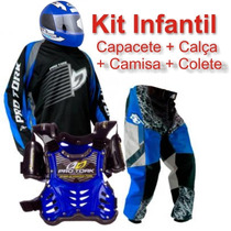 Kit Infantil Para Motocross - Promoção Especial