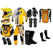 Kit Geometric Pro Tork Equipamento Trilha Motocross Enduro