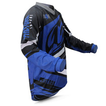 Camisa Motocross Pro Tork Insane 4 Azul Cinza Trilha Enduro