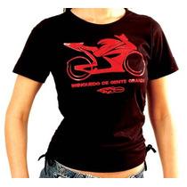 Camiseta Motociclista Feminina Kallegari Tamanho G