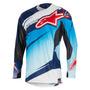 Camisa Alpinestars Techstar Venom 16 Azul/branco M(m) Rs1