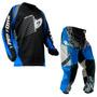Calça Camisa Insane Infantil Protork Motocross Kids Azul