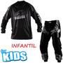 Calça E Camisa Insane Infantil Protork Motocross Kids+brinde
