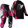 Calça Camisa Insane Infantil Protork Motocross Kids Rosa