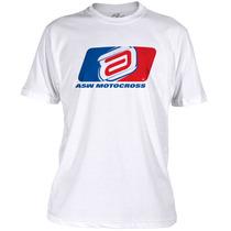 Camiseta Casual Asw Motocross 2016 - Branca - Tamanho G