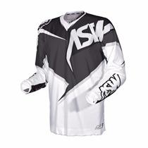 Camisa Asw Image Reedem 2015 Preto/branco Trilha - Motocross