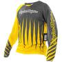 Camisa Bike Troy Lee Sprint Joker Yellow/ Gray