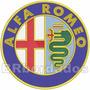 Patch Bordado Car044 Alfa Romeo 28cm Carros Coleção Itália