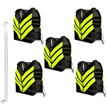 Kit 5 Coletes Refletivo Moto Boy Taxi Frete Pro Tork One M