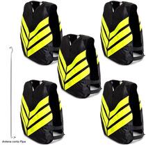Kit 5 Coletes Refletivo Moto Boy Taxi Frete Pro Tork Two P