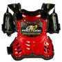 Colete Motocross Infantil Pro Tork Criança Vermelho + Brinde