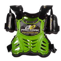 Colete Motocross Infantil Pro Tork Criança Verde + Brinde