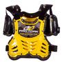 Colete Motocross Infantil Pro Tork Criança Amarelo + Brinde