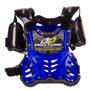 Colete Motocross Infantil Pro Tork Criança Azul + Brinde