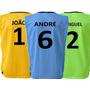 Jogo De Coletes Futebol Personalizado Numerado Nome - 10 Un
