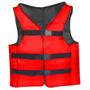 Colete Salva Vida Auxiliar Flutuação Caiaque M 90kg Vermelho