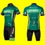 Conjunto Europcar Camisas 3 Bolsos Bermuda Acolchoada