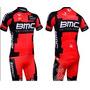 Conjunto Uniforme Ciclismo Camiseta Bermuda Bmc 2014 Novo