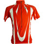 Camiseta Ciclista Double Aa M/c Verm/br Refactor - P