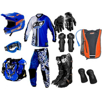 Kit Geometric Pro Tork Equipamento Trilha Motocross+ Mochila