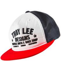 Boné Troy Lee Race Shop Trucker Azul/vermelho