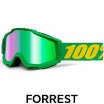 Oculos Moto 100% Accuri Forrest Green Trilha Enduro Motocros