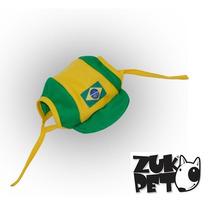 Bone Do Brasil Verde Amarelo Para Caes E Gatos