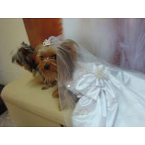 Roupa Para Cachorro - Vestido De Noiva - Marca Lepetipeta