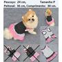 Roupa Vestido Cão Cachorro Gato Babados Saia Tule Rosa P
