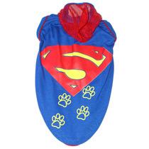 Roupa Super-homem Cachorro - Roupinha Cães Pet Super Herois
