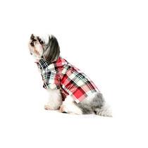 Camisa Xadrez Para Cachorro | Cor: Vermelho | Tamanho 03
