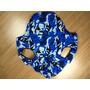 Colete Roupa Cachorro Azul Camuflado Tamanho Gg