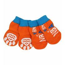 Meias, Sapatos Para Cachorro Anti Derrapante Laranja Tam: G