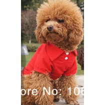 Roupa Para Cães Pequenos: Pólo Vermelha Pp-p - M - G