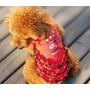 Roupinha Pet Cachorro - Vestido Vermelho - Saia Babado