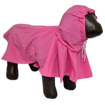 Capa De Chuva Para Cães Cachorros Impermeável Tamanho G Rosa