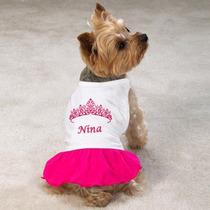 Roupa Para Cachorro-gato Femea Com Saia Personalizada/nome
