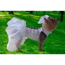 Moda Pet Cachorro, Cão, Roupas Vestido De Noiva, Corselet