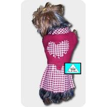 Molde P/ Confecção Vestido P/ Cães Reta Galoneira Oerloque