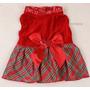 Roupa Cachorro Gato Vermelha Com Paetês Fashion Tamanho P
